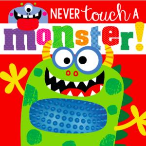 Lieblingsbuch von meinem 1 jährigem Sohn: Never touch a monster mit spannenden taktilen Erfahrungen
