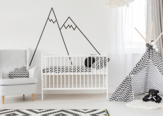 Kinderzimmer mit Bergen gestalten - Berglandschaft als ...