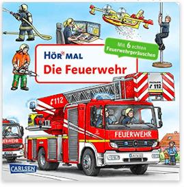 """Das Hör Mal Feuerwehrbuch ist perfekt für alle Babys und Kleinkinder, die nicht genug von """"Tatütata"""" bekommen können. Eine tolle Geschenkidee zum 1. Geburtstag."""