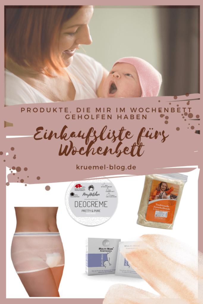 Was brauche ich im Wochenbett? Ich gebe dir eine Einkaufsliste für das Wochenbett und sage dir, welche Produkte beim Stillen, bei Dammriss und bei Geburtsverletzungen im Wochenbett helfen.
