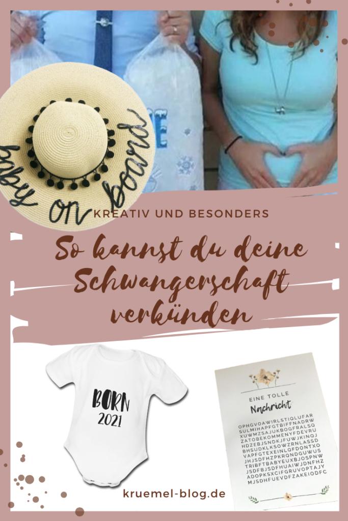 So kannst du deine Schwangerschaft verkünden - kreative und besondere Ideen, deine Schwangerschaft deinem Mann, deinen Freunden und deiner Familie mitzuteilen